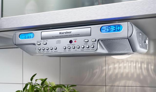 karcher ka 1015 unterbau k chenradio cd player display fernbedienung. Black Bedroom Furniture Sets. Home Design Ideas