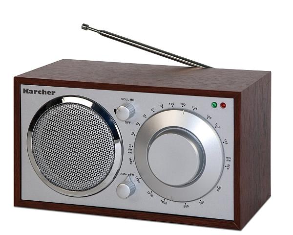 karcher ka 230 k retro design radio nostalgie kofferradio k chenradio holzoptik ebay. Black Bedroom Furniture Sets. Home Design Ideas