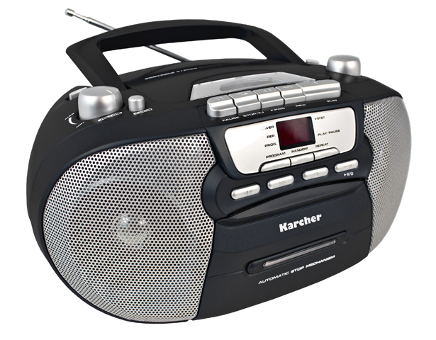 karcher rr 5040 b oberon tragbarer cd player mit kassette. Black Bedroom Furniture Sets. Home Design Ideas